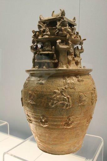 celadon jar, W. Jin, 265-317 AD