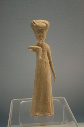 white glaze pottery woman, Sui, 581-618 AD