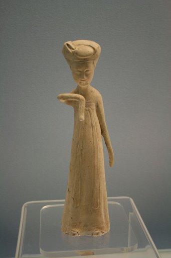 white glaze pottery woman, Sui, 581-618 AD