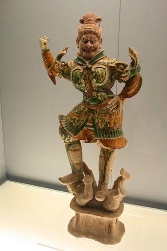Tượng thần giử mộ men tam sắc ( tang sancai), triều đại nhà Đường