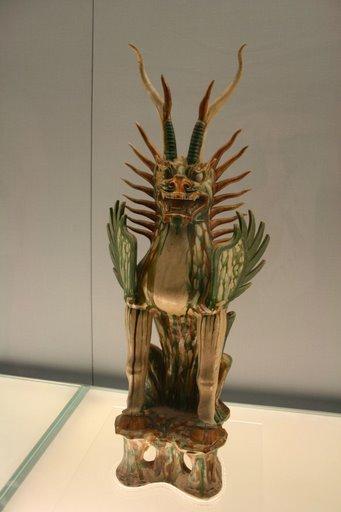 Tượng giử mộ men tam sắc ( tang sancai), triều đại nhà Đường