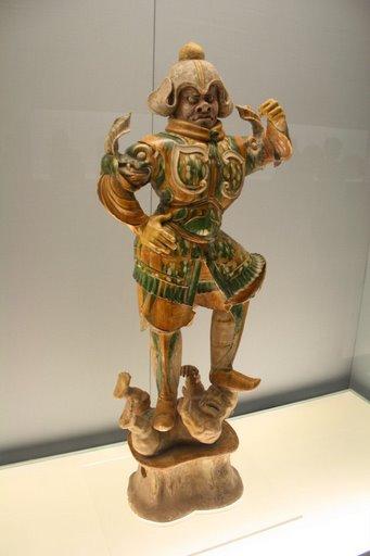 Tượng thần giử mộ men tam sắc ( Tang sancai)