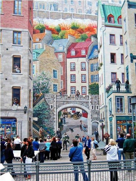 9. Tranh tường ở Quebec, Canada