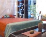 phòng ngủ với vật liệu đậm chất phương đông