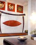Bức tranh 12 con giáp trên tường