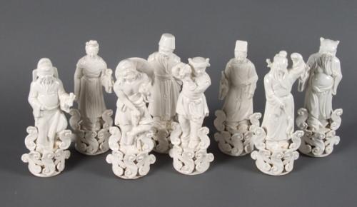 Bát Tiên - Porcelain men trắng