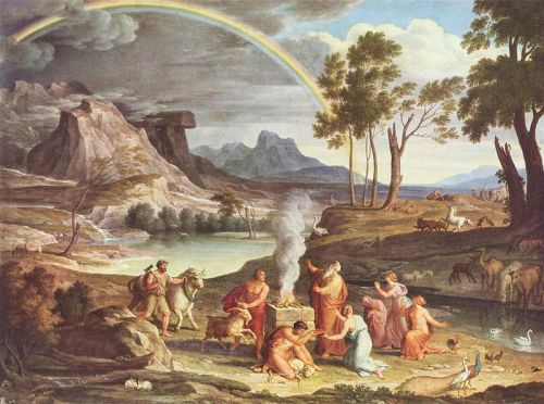 cầu vồng trong tranh của Joseph-Anton-koch