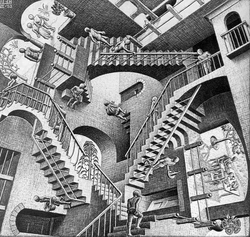 escher_mc_relativity_1953_lithograph_national_gallery_of_art_washington_660