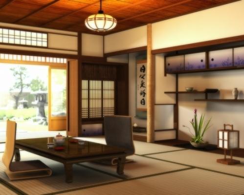 Một kiểu tokonoma với các tác phẩm nghệ thuật như bình gốm , thư pháp