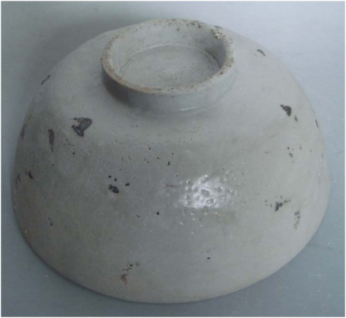Late Ming Swatow blue and white bowl with lion motif