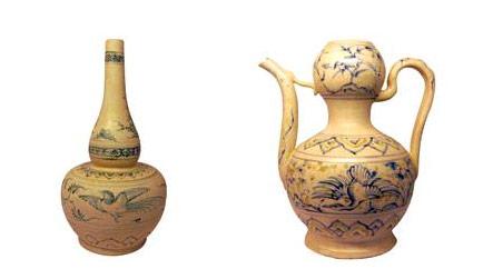 Tạo hình hiện đại của chiếc bình rượu cổ gốm Chu Đậu