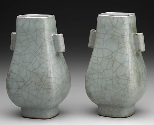 Title:Celadon Vase, one of a pair Date:Sung dynasty Medium:Kuan ware High-fired stoneware with blue-green glaze and induced crackle Dimensions:H.5-5/8 x W.3-1/4 x D.2-3/4 in. Creation Place:Asia, China
