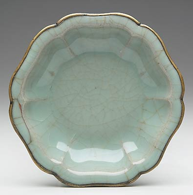 Title:Dish Date:960-1279 Medium:Kuan ware Stoneware with pale blue glaze and induced crackle Dimensions:1 x 5 1/2 in. (2.54 x 13.97 cm) Creation Place:Asia, China