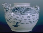 Ấm men lam hình chim hai đầu - Fine Blue and White double-headed Bird Ewer