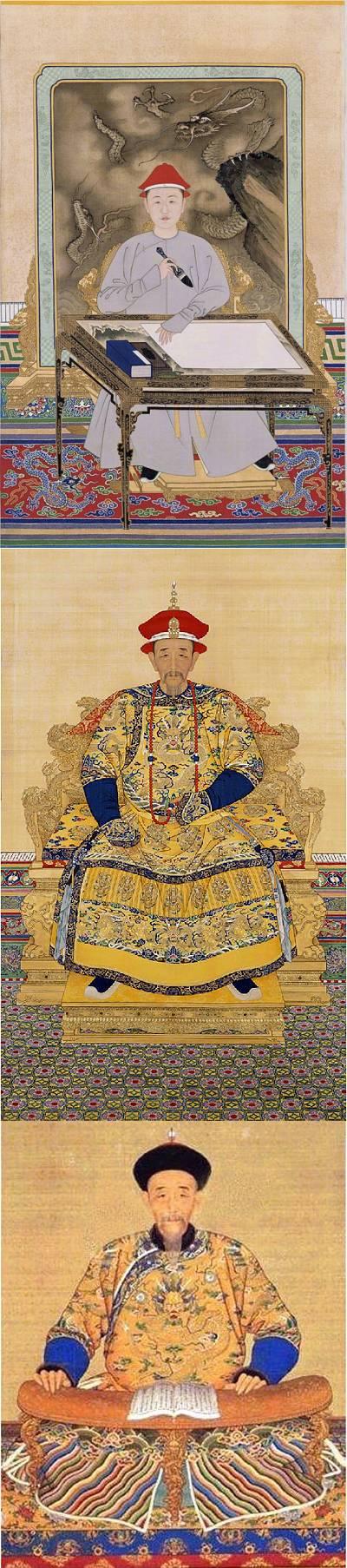 Ba tranh chân dung Hoàng Đế Khang Hy - Thanh