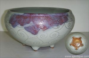 Jun Ware with Silver Line Wash Pot