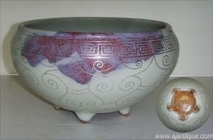 Jun Ware with Silver Line Wash Pot