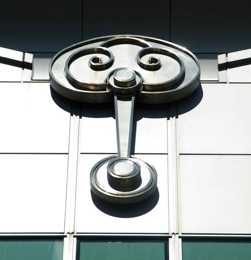 """Motif trang trí kiến trúc bằng biểu tượng """"như ý"""" (ruyi) trên tòa nhà 101 Taipei - Taipei"""