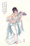 Traditional Chinese Figure painting. Artist: Alao (Member of China Artist Association)