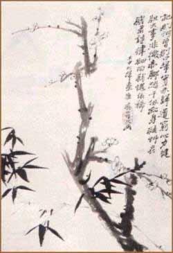 Trúc mai : «Trúc là quân tử, mai là giai nhân.» – tranh của Thạch Đào đời Thanh