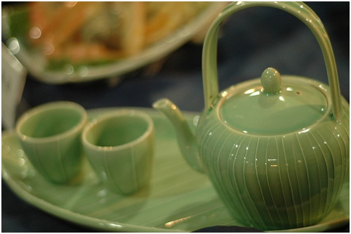 Traditional Korean tea set