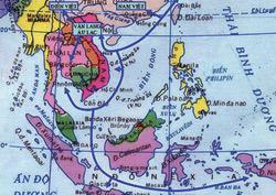 Bản đồ con đường giao lưu trên biển của cư dân Văn Lang - Âu Lạc, chủ nhân văn hóa Đông Sơn
