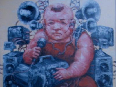Tranh Phú quý của Phạm Huy Thông