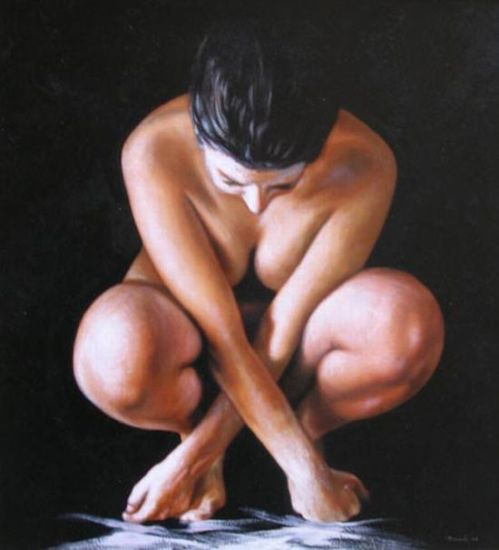 Oil Paintings of Nude Females by Danilo Ricciardi Italy