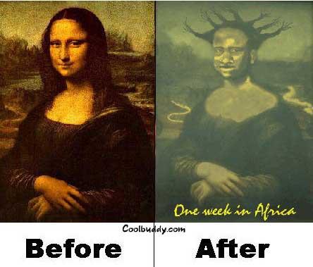 Monalisa after one week in Africa