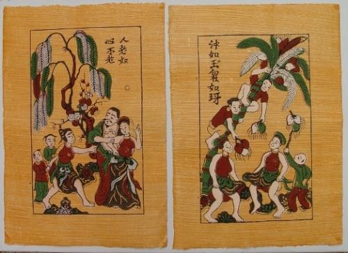 Tranh Đánh ghen và Hứng dừa (mới)