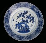 Chinese blue and white plate, Kangxi (1662-1722) Ref: P565 Chinese blue and white plate, Kangxi (1662-1722)