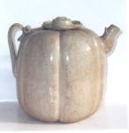 Âm men trăng đơi Ly XI - XIII Century Gourd Shaped Ewer with white glaze