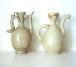 Âm men trăng quai rông đơi Ly Trân XIII - XIV Century Ewer with white glaze, dragon shaped handle and spout