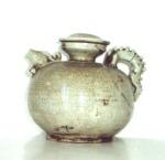 Lu Chu Đâu XIV-XVI Century Jar with ivory glaze, inlaid-brown vegetal decoration