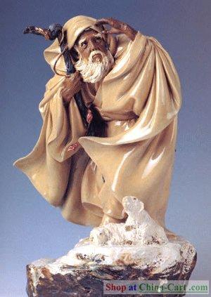 Tượng Tô Vũ (Shiwan product: Suwu figurine) - Do nghệ nhân TQ thực hiện