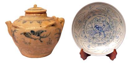 Chim chích choè - hình ảnh khá phổ biến trên hiện vật gốm Chu Đậu
