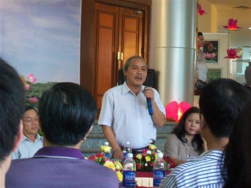 Đại diện Bộ Văn Hóa TT và Du lịch phát biểu tại lễ tổng kết